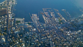 Downtown Nantucket, from the air